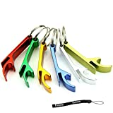 Flyyfree Schlüsselanhänger, 5Stück, mit Flaschenöffner, klein, Schlüsselanhänger mit Ring