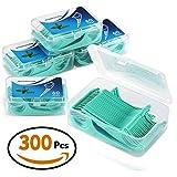 Zahnseide 300 Stk. Zahnseide Sticks Zahnstocher kunststoff Zahnpflege Dental Floss Zahnreiniger Sticks mit Griff - Zahnseidensticks - 60/ Paket