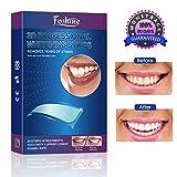 White Strips Foshine Zahnaufhellung Bleaching Strips 28pcs für Weiße Zähne,Zahnweiß Streifen,Zähne bleichen