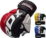 RDX MMA Handschuhe Profi Kampfsport Sparring Freefight Sandsack Trainingshandschuhe Grappling Gloves (MEHRWEG)