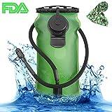 SKL 3 Liter Trinkblase Große Öffnung Wasserblase FDA Geprüfter BPA-frei Trinksystemideal für Outdoor-Radfahren, Wandern, Laufen, Camping, Walking