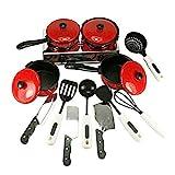 WINOMO Kindergeschirr Küche-Spielzeug Kinder Kochgeschirr Spielset Koch Spielzeug Pfannen Töpfe vorgeben spielen Kinder-Bildungs-Spielzeug