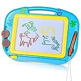 TTMOW Zaubertafel Kinder Maltafel für Kinder ab 2 ab 3 mit Magnetische Stempel Lerntafel Reißbrett Kindergeschenk (Blau)