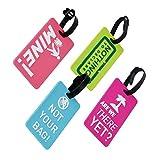Kofferanhänger, PVC Gepäckanhänger, Sichere Kofferanhänger Visitenkartenhalter / Travel ID Tasche 4 Stücke