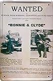 Retro Wandschild Designer Schild Wanted Bonnie & Clyde Murder Bank Robbery Deko 20x30cm Nostalgie Metal Sign XSONS35WA