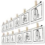 LeTOMA - Fotoseil 2x100 cm mit 2x8 Klammern inklusive patentierter Seilhalter ideal um Fotos und Postkarten schnell aufzuhängen - Fotoleine aus hochwertigem Naturhanf - Handmade in Germany