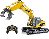 Top Race ferngesteuerter Bagger als Kettenbagger mit Greifarm Schaufelbagger Baustellenfahrzeuge ferngesteuert Spielzeug für Jungs 215