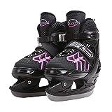 Kupe Jungen Hockey Schlittschuhe, Adult Anfänger Premium Einstellbare Schlittschuhe, Polsterung und verstärkte Knöchelunterstützung Spaß beim Schlittschuhlaufen,Rosa,S