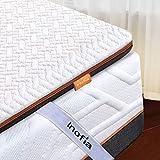 Inofia Matratzenauflage 90x200 Memory Foam Topper Matratzentopper Visco Mattress Topper 2cm Naturbrown Airyfoam+4m Biogrey Reliefoam, 100 Nächte Probeschlafen,10 Jahre Garantie(90 x 200 cm)