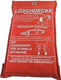 Feuerlöschdecke Löschdecke Feuer-Löschdecke Erste Hilfe 1x1m EN1869 , iapyx