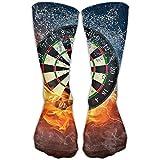 Ljkhas232 Dart Board Target Ice Fire Long Novelty High Athletic Sock Outdoor Gift