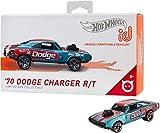Hot Wheels iD FXB03 - Die-Cast Fahrzeug 1:64 70 Dodge Charger R/T mit NFC-Chip zum Scannen in der Hot Wheels iD App, Auto Spielzeug ab 8 Jahren