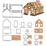 Jolisson 10 Stück 3D Weihnachten Ausstechformen Edelstahl Fondant Ausstecher Set DIY für Torten Kekse Backzubehör