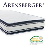 Arensberger Relaxx 9 Zonen Wellness Matratze mit 3D-Memory Foam, 90cm x 200cm, Höhe 25cm, Raumgewicht 50 kg/m³, drei Schichten: Kaltschaum + Visco Smart Schaum + Gel Schaum
