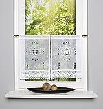 2er Set Scheibengardinen / Fensterbilder FRENCH COUNTRY 45 x 30 cm