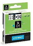 Dymo S0720530 D1-Etiketten (Selbstklebend, für den Drucker LabelManager, 12 mm x 7 m Rolle) schwarz auf weiß
