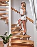foto-kontor Anti Rutsch Streifen für Treppen und Stufen selbstklebend schwarz 18 Stück Antirutschstreifen Treppe