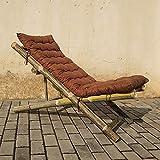 Jia He Klappsessel Bambusstuhl Klappstuhl Bambusstuhl Alter Mann Rückenlehne durch den kühlen Stuhl Einzelklappstuhl Bambusmöbel Mittagspause Balkonstuhl Liege, 2 Ausführungen optional ##
