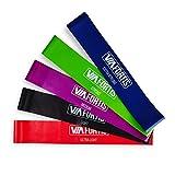 VIA FORTIS Premium Loop Band Set – 5 Fitnessbänder mit praktischer Tasche – Gymnastikbänder für Yoga, Pilates, Reha-Sport, Physio und mehr – Resistance Band / Widerstandsband in 5 Stärken
