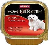 Animonda vom Feinsten Hundefutter Junior mit Rind + Geflügel, 22er Pack (22 x150 g)