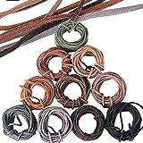 3mm x 50m Leder Schnur Faux Faden Lederband für Armband Halskette Faux Wildleder Schnur String Handwerk DIY Schmuck Braun Schwarz 10 Farben (5m jeder Farbe)
