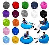 Patchhome 2 in 1 Funktion Sitzsack Sitzkissen Bean Bag - Pink - 125cm Durchmesser in 25 Farben und 3 versch. Größen - fertig befüllt