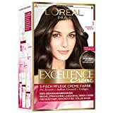 L'Oréal Paris Excellence Creme Coloration, 3 - Dunkelbraun, 1 Stück