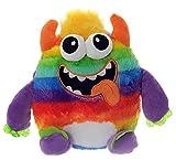 Toi-Toys Plüschmonster in Regenbogenfarben 30cm Plüschtier (Oranges Horn)