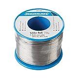 Silverline 701153 Lötzinn (Rolle) 250 g, 1 W, 1 V, Mehrfarbig