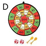 Enyu 1 Satz Darts Platte Beflockung Dartscheibe Kinder Höhle Sport Spielzeug Doppel Ziel Spiel