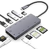 USB C Hub 11 in 1 Dex Station mit HDMI 4K,USB 3.0, Aufladung,Unterstützt SD/SDHC/SDXC/Micro sd/ Kartenleser OTG Type C Dock Kompatibel with MacBook Pro 2017/ 2018,Samsung S8/S9
