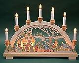 Schwibbogen Lichterbogen Erzgebirge 'Bescherung' 10flammig innenbeleuchtet farbig Weihnachten Advent Geschenk Dekoration (10792)