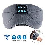Bluetooth Schlafmaske,LC-dolida schlafkopfhörer Bluetooth Musik Augenmaske für Reisen mit Dem Flugzeug,Bluetooth Headset mit Mikrofon-Freisprecheinrichtung, Lange Spielzeit