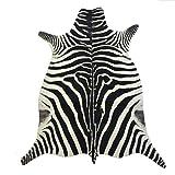 Safari Hunter - Animal Print Konturenschnitt Zebra | realistischer Look dank modernster Printtechnik | 100% Polyamid | stilvoller Hingucker | vielseitig einsetzbar und kombinierbar | sehr pflegeleicht, Größe auswählen:190 x 283 cm