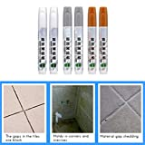 Daxoon Fugenstift, weiß/grau/gelb, Fliesenstift - ideal, um das Aussehen von Küche, Dusche, Badezimmer Fliesenböden, Wänden, Fugenlinien (gratis mit Ersatzstiftspitze), Plastik, grau, 14 * 1.8cm