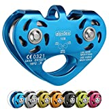 Seilrolle Tandem Pulley Power 2.0 von Alpidex Tandemrolle Umlenkrolle, Farbe:blau