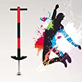 GOTOTOP Pogo Stick Einzelne Bar Springstock Pogostick Hüpfstab Hüpfstange für Jungen und Mädchen Sport und Spaß (Rot)