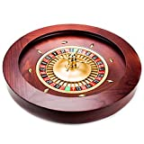 Brybelly Casino Grade Deluxe Holz Roulette-Rad, Red/Brown Mahogany
