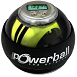 Kernpower Hand- Und Armtrainer Powerball The Original Autostart Plus Digitalem Drehzahlmesser, grau transparent, 070,