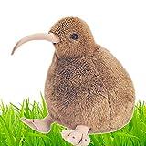 LuLezon Süße Neuseeland Kiwi Vogel Plüschtier Brown Animal Plüsch Puppe 28 cm