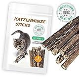 Katzenminze | Katzenspielzeug | 8 extra dicke hochwertige Sticks | Kaustäbchen in naturreiner Qualität | Fördert den Spieltrieb | Katzenminzsticks unterstützen eine natürliche Zahnpflege | Verhilft bei Mundgeruch & Zahnstein | Premiumqualität von HappyPets by Tillmann's  Deutschland