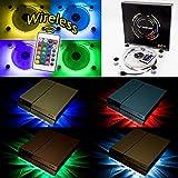 WOWLED RGB LED USB Kühler Lüfter Fan Ständer PS4 Playstation 4 Zubehör with Fernbedienung für Konsole Laptop Notebook …