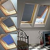 96 * 100cm Grau Dachfenster Rollo Verdunkelung Thermorollo Sonnen & Sichtschutz