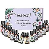 Vsadey Ätherische Öle Set Bio Natürliche Aromatherapie Duftöl 100% Pur 14 * 5 ml Spa Organische Essential Oils für Diffuser