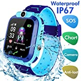 Jaybest Kinder SmartWatch Phone Smartwatches mit SOS Voice Chat Kamera Taschenlampe Wecker Digitale Armbanduhr Smartwatch Girls Boys Birthday