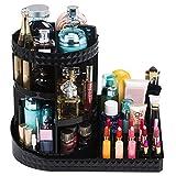 Readaeer Make-up Organizer, Drehbarer Kosmetikorganiser Multifunktionale Kosmetik Aufbewahrung (Schwarz)