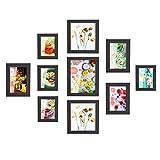 MVPOWER Bilderrahmen 10er Set Fotorahmen mit Bildabdeckung aus Glas Foto Collage von 4 Stk. 10*15cm, 3 Stk. 13*18cm, 2 Stk.20*20cm, 1 Stk. 20*25cm, Poster hausdeko (Schwarz)