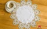 Hohe Qualität Runde, Tischdecken Deckchen Spitze Tisch Home Dekoration weiß & ivory, Spitze, elfenbeinfarben, 16' = 40cm