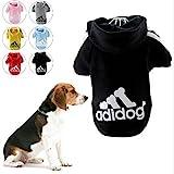 KayMayn Hunde-Pullover mit Kapuze, Aufschrift 'Adidog', sportlicher Look, 7 Farben, in den Größen S bis 9XL