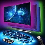 LED Strip InnooLight TV Hintergrundbeleuchtung LED-Streifen Led Lichterkette mit vielen Farben, Fernbedienung und USB betriebenem 2M für TV, Desktop,Schreibtisch, 5050RGB, 4 * 50CM Set